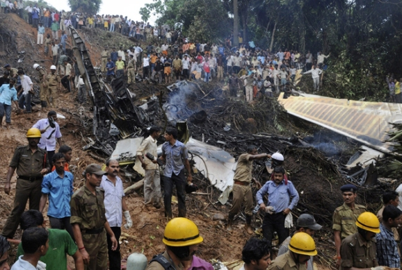Mangalore wreckage of an Air India Express plane
