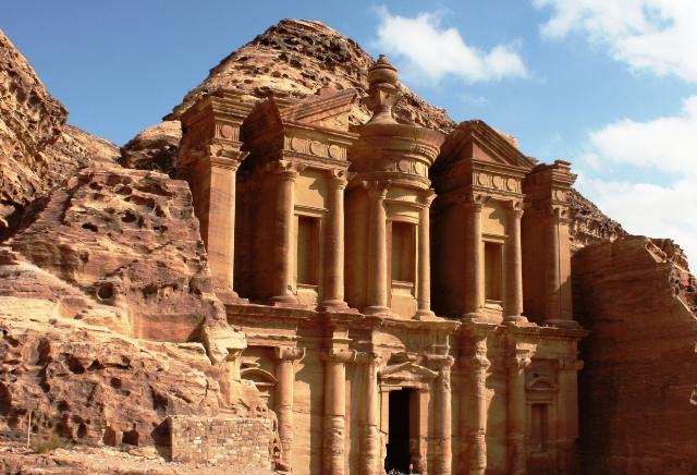 Monastery in Petra in Jordan