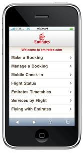 Emirates Mobile Booking (Mobile Emirates.com)