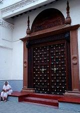 Stone town indian wooden door